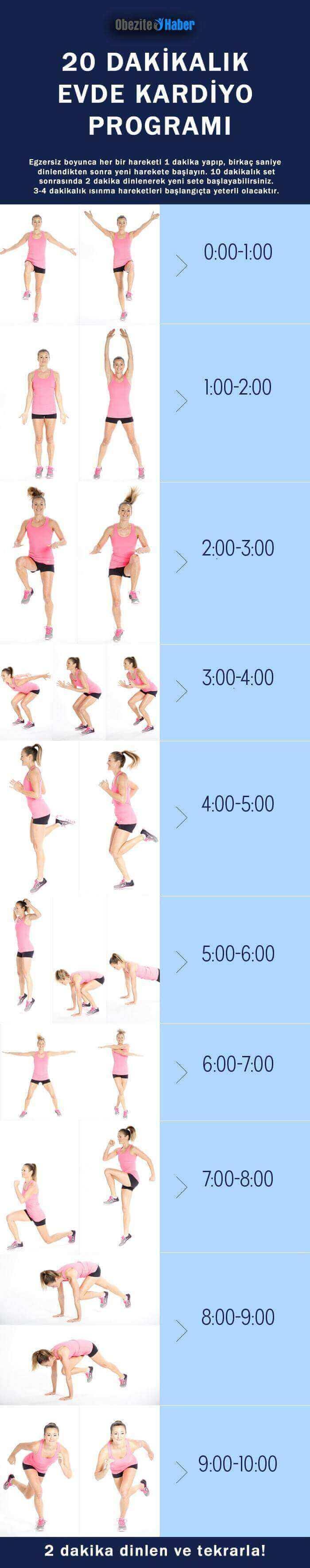 Evde Kardiyo Egzersizleri Nelerdir